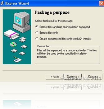 IExpress package purpose