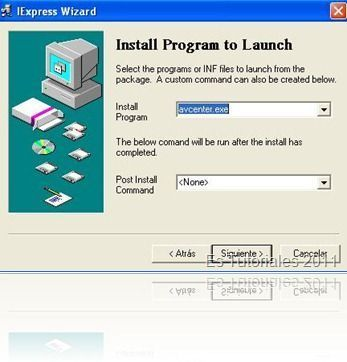 IExpress Install program to launch
